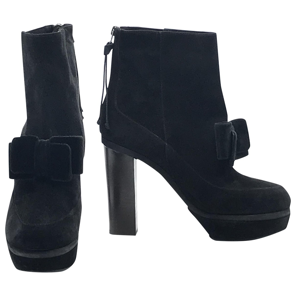 Marni \N Black Suede Ankle boots for Women 38 EU