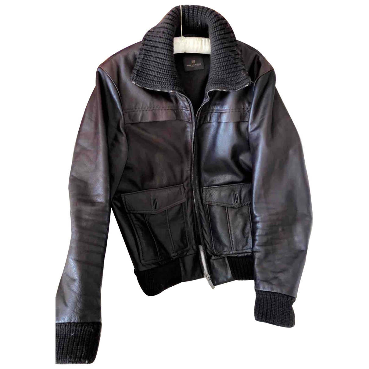 Boss \N Brown Leather jacket  for Men 46 IT