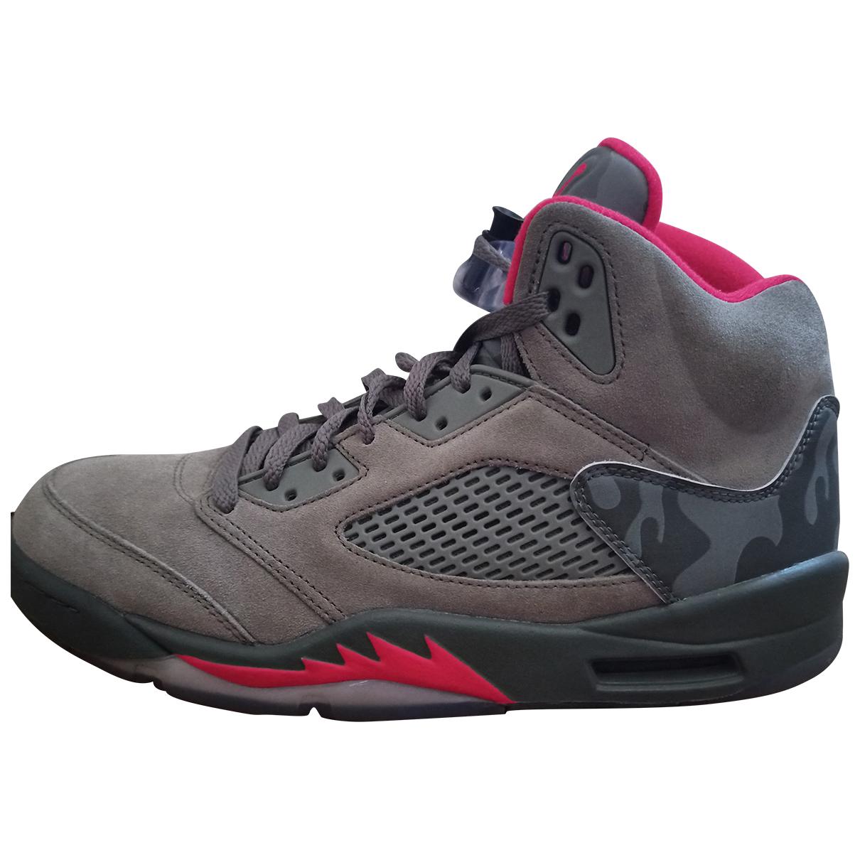 Jordan Air Jordan 5 Khaki Suede Trainers for Men 44 EU