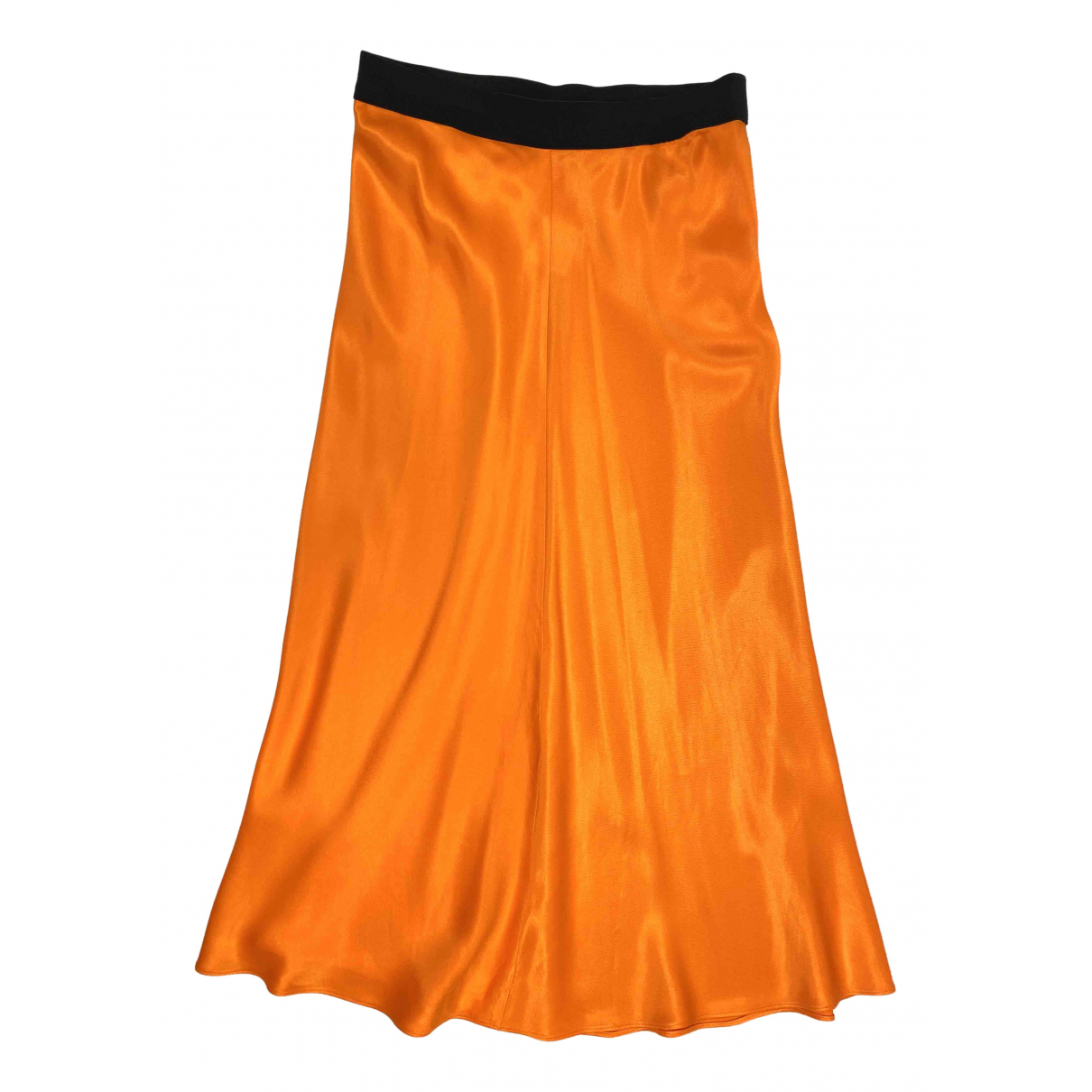 By Malene Birger - Jupe   pour femme en soie - orange