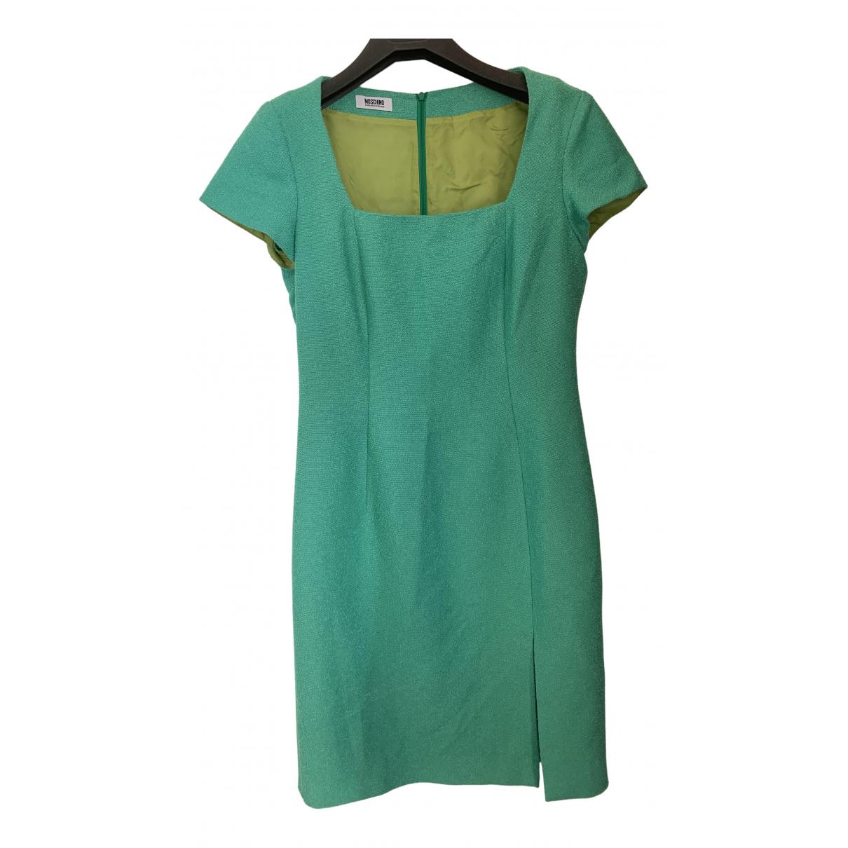 Moschino Cheap And Chic \N Kleid in  Tuerkis Baumwolle