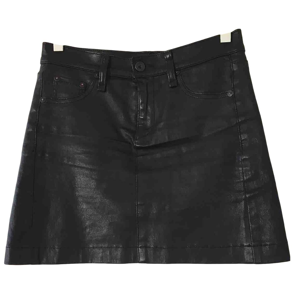Mini falda de Cuero Rag & Bone