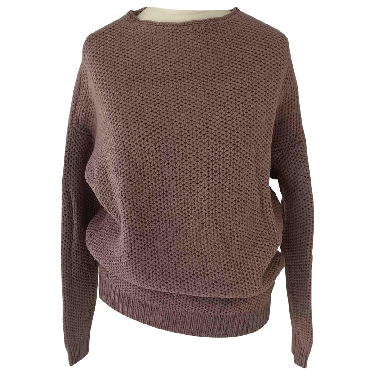 Ports 1961 - Pull   pour femme en laine - rose