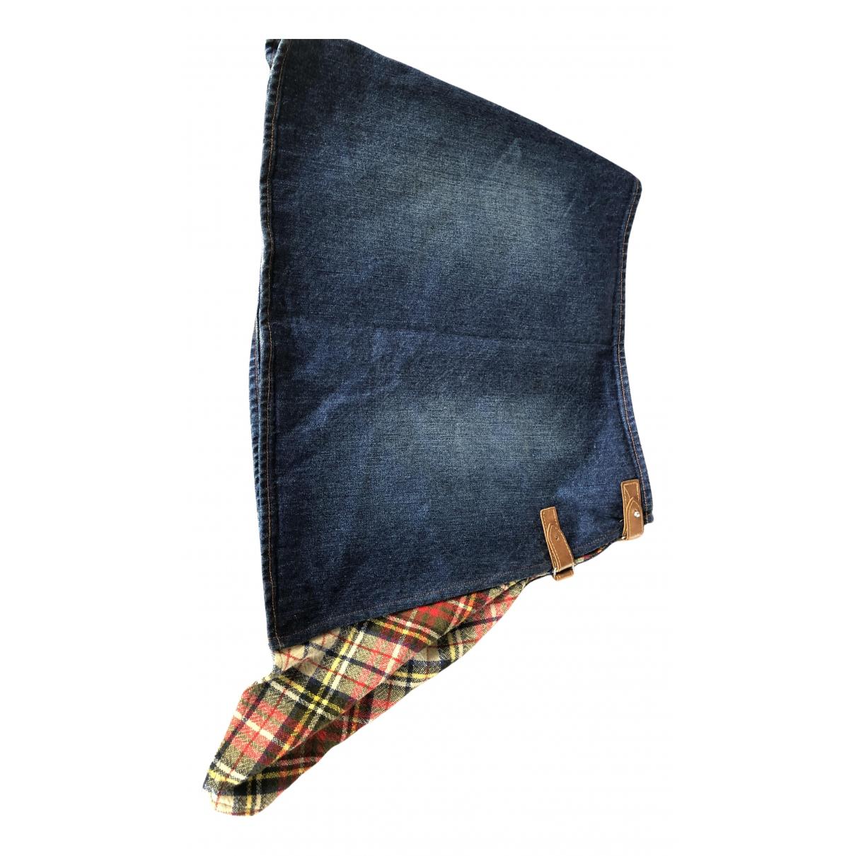Jean Paul Gaultier \N Rocke in  Blau Denim - Jeans