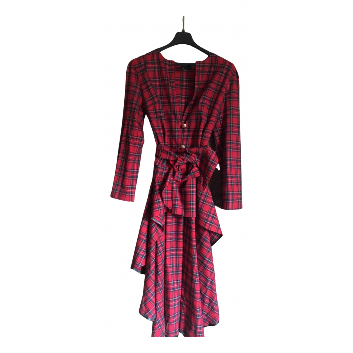 Non Signé / Unsigned N Red Wool dress for Women S International