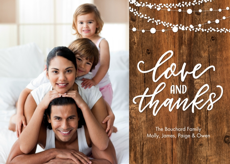 Thank You Cards 5x7 Folded Cards, Standard Cardstock 85lb, Card & Stationery -Thank You Lights Folded