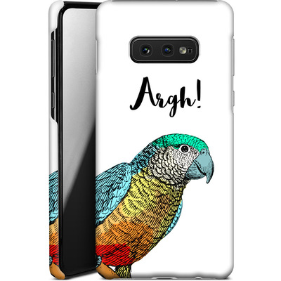 Samsung Galaxy S10e Smartphone Huelle - Parrot Pirate von caseable Designs