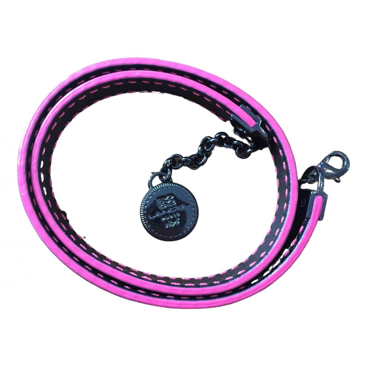 Lancel - Bracelet   pour femme en cuir - noir
