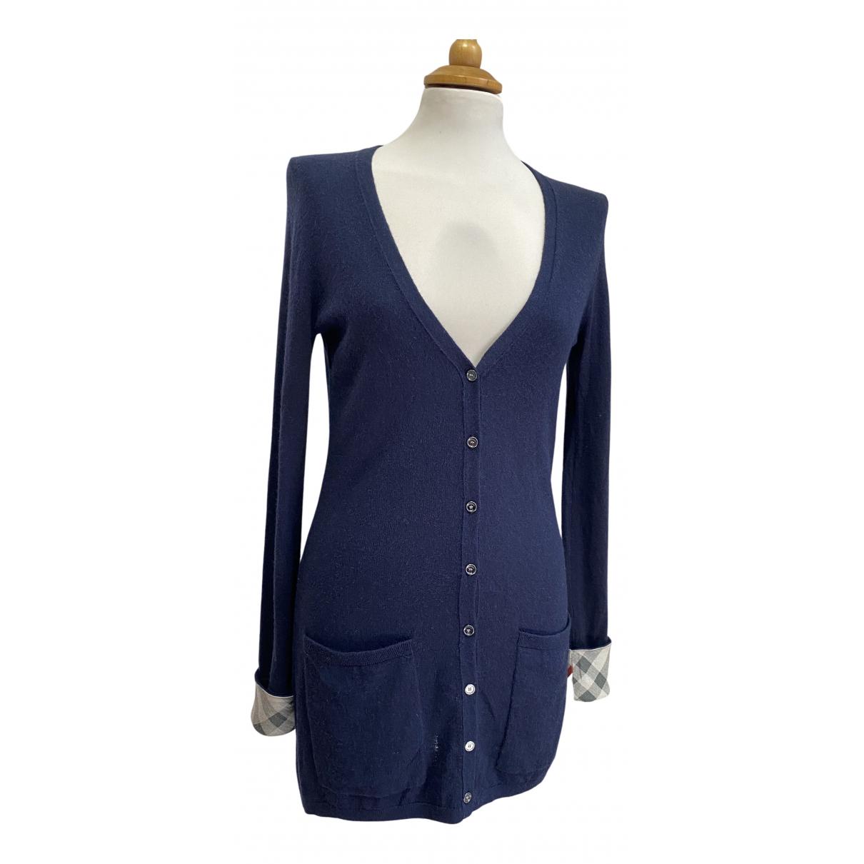 Burberry - Pull   pour femme en cachemire - bleu
