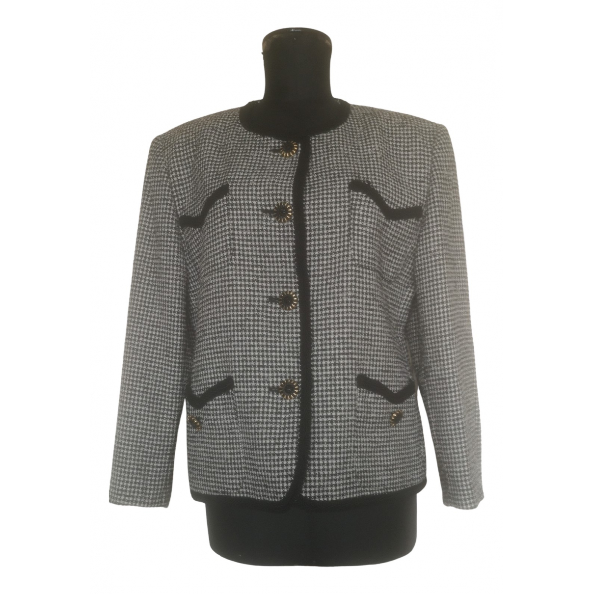 Non Signé / Unsigned N Multicolour Wool jacket for Women 50-52 IT