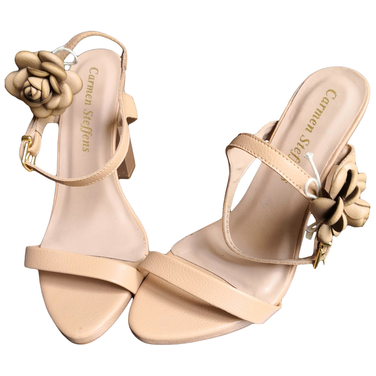 Non Signé / Unsigned \N Beige Leather Sandals for Women 39 EU