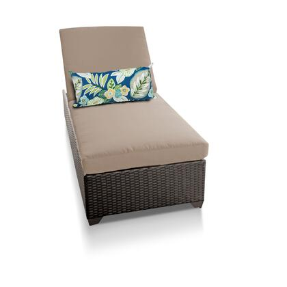 Barbados BARBADOS-1x-WHEAT Outdoor Wicker Patio Chaise - 2 Wheat