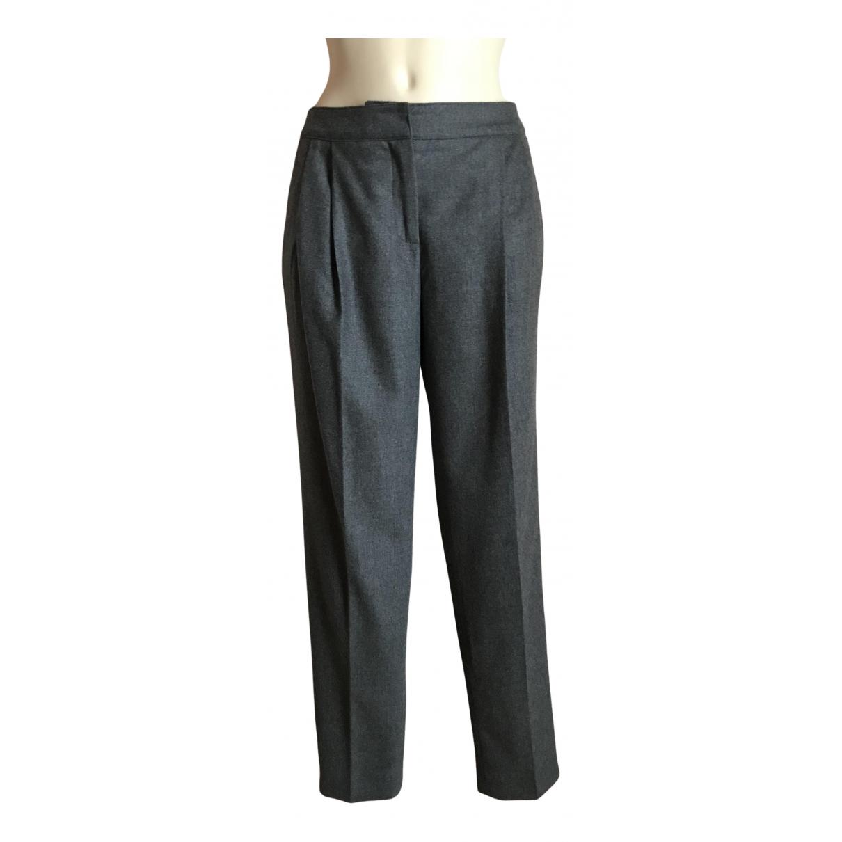 Burberry N Grey Wool Trousers for Women 42 IT
