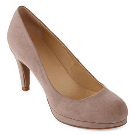 CL by Laundry Womens Nidia Round Toe Stiletto Heel Pumps, 10 Medium, Brown