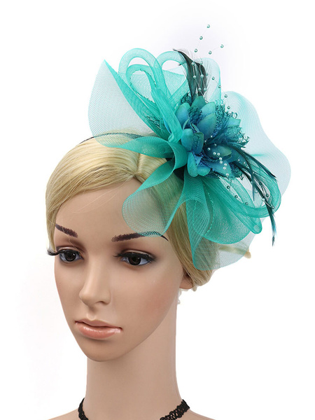 Milanoo Vintage Headpieces Flower Feathers Headband Retro Women Halloween Carnival Hair Accessories