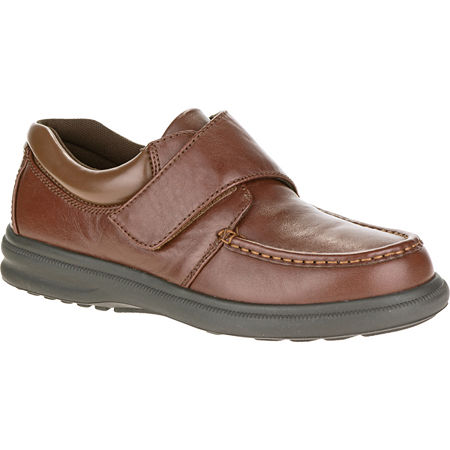 Hush Puppies Gil Mens Moc-Toe Leather Shoes, 9 1/2 Medium, Brown