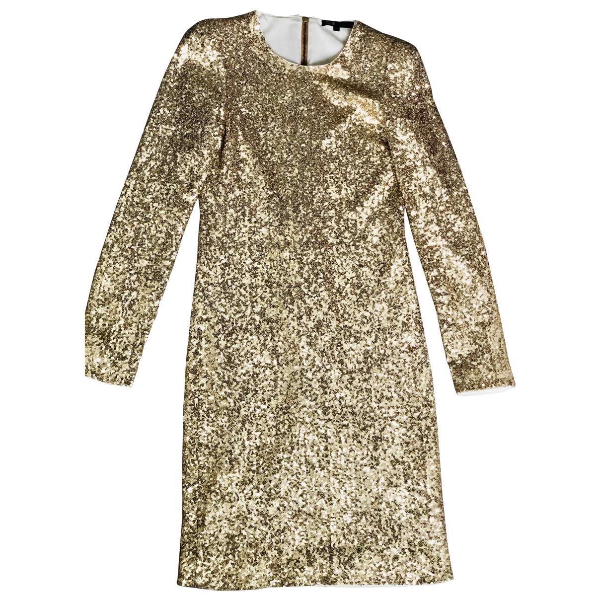 Maje - Robe   pour femme - dore