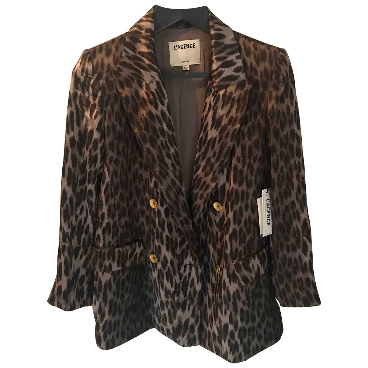 Lagence - Veste   pour femme en soie - noir