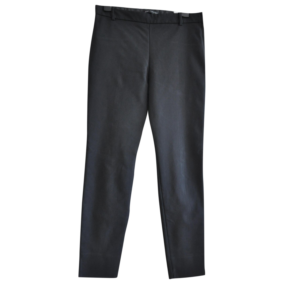 Zara \N Black Cotton Trousers for Women M International