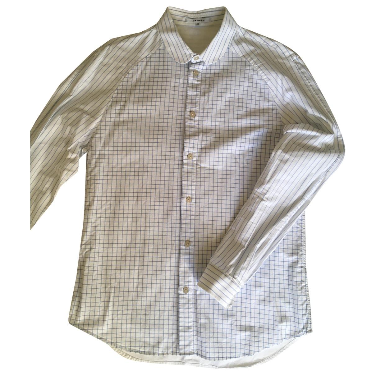 Carven - Chemises   pour homme en coton - bleu