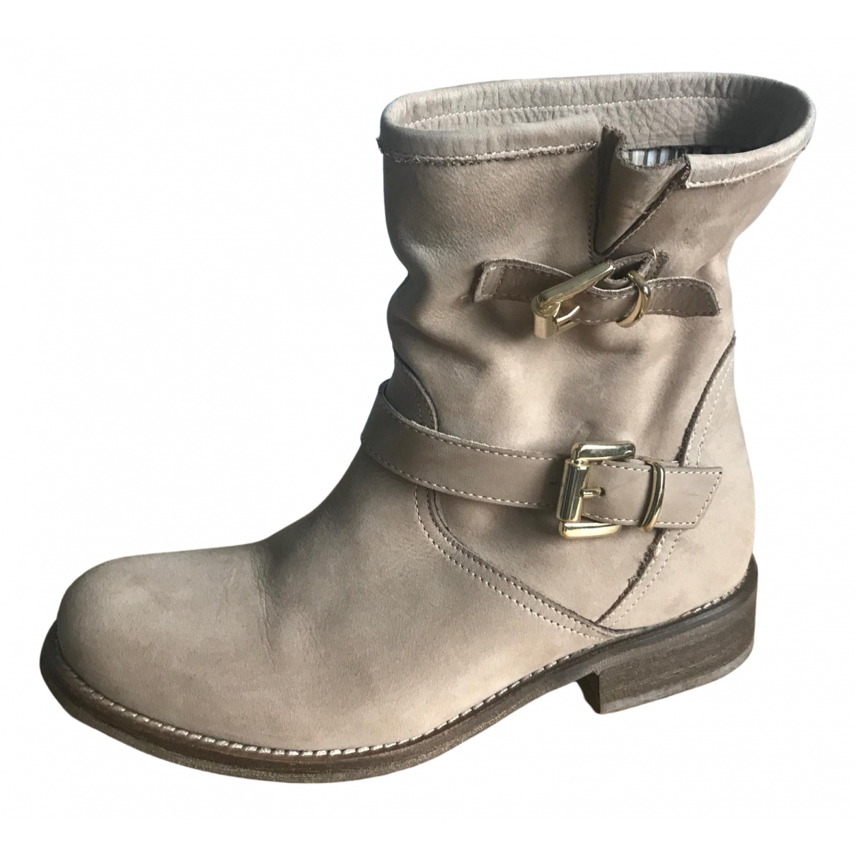 Marella \N Beige Leather Boots for Women 37 IT