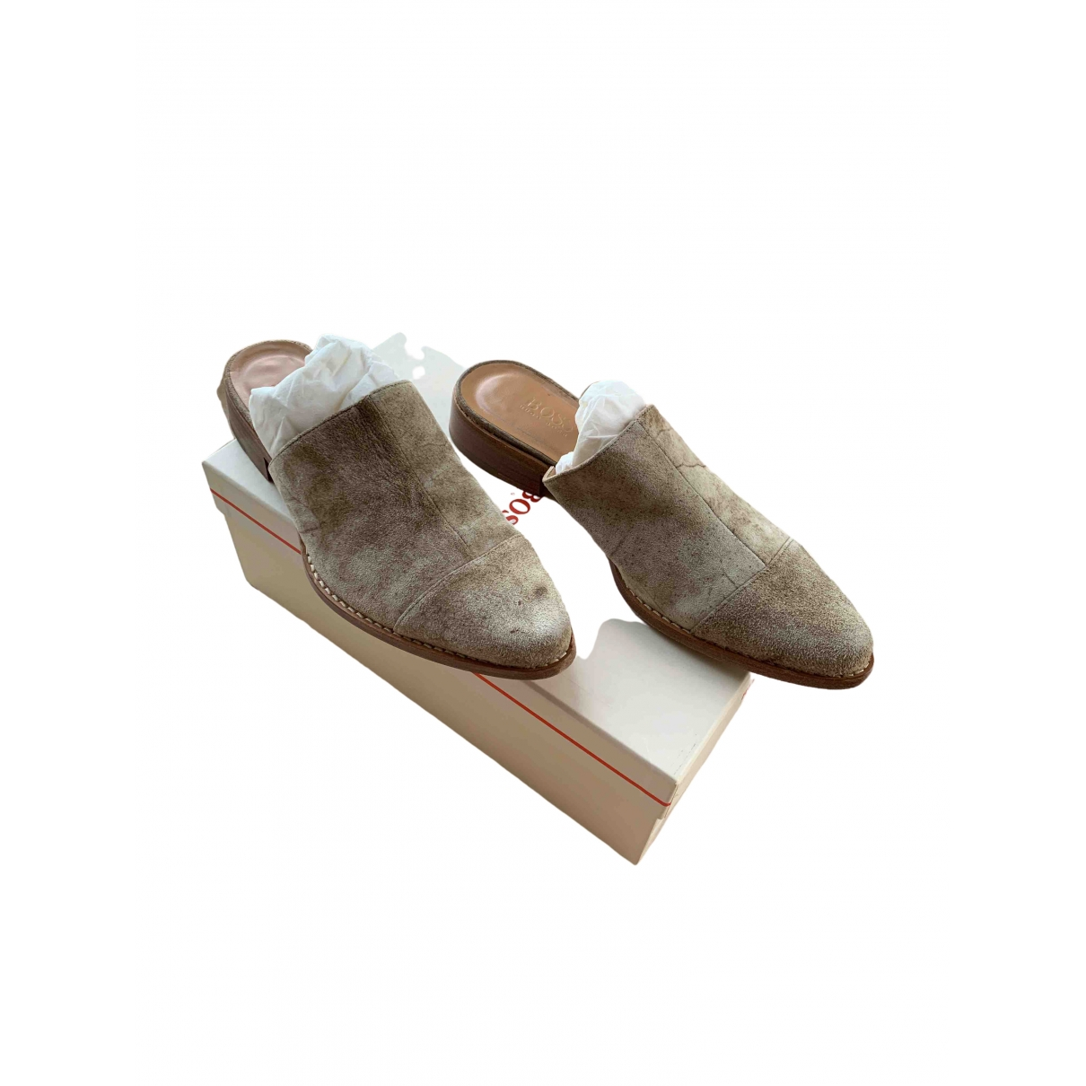 Boss \N Clogs in  Beige Veloursleder