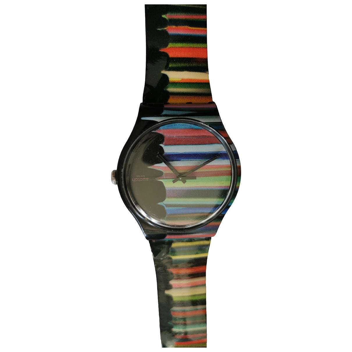 Swatch - Montre   pour homme en caoutchouc - multicolore