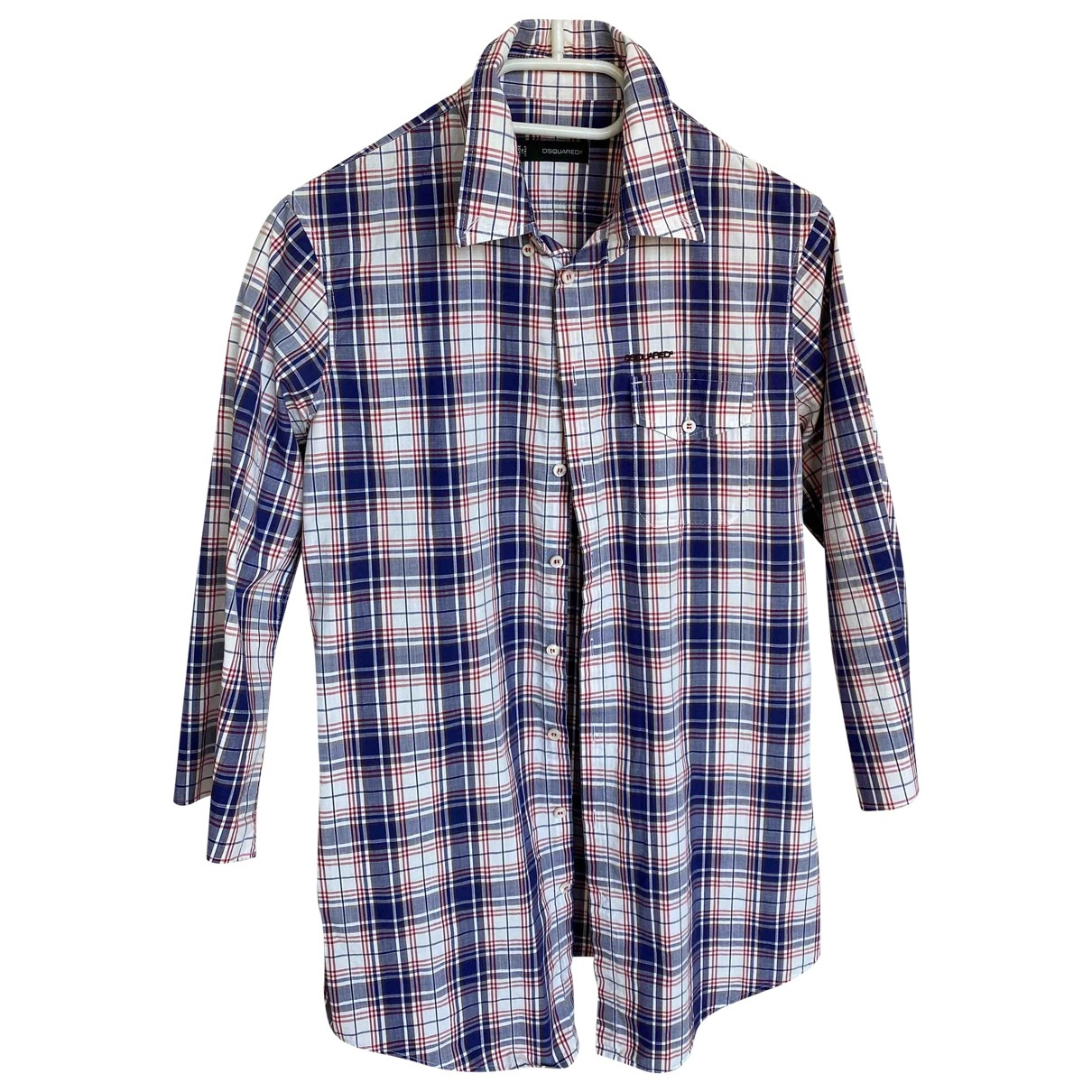 Dsquared2 \N Blue Cotton Shirts for Men S International