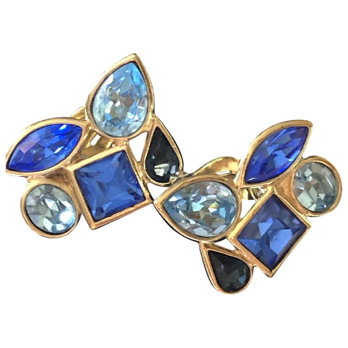 Yves Saint Laurent \N Blue Metal Earrings for Women \N