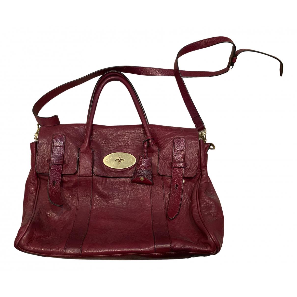 Mulberry - Sac a main Bayswater pour femme en cuir - bordeaux