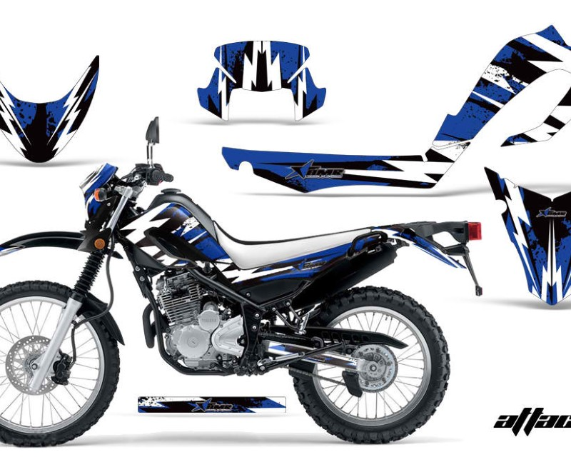 AMR Racing Dirt Bike Decal Graphic Kit MX Sticker Wrap For Yamaha XT250X 2006-2018áATTACK BLUE
