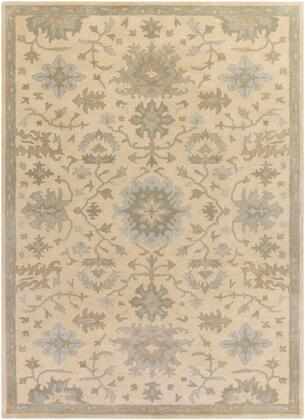 Caesar CAE-1161 10' x 14' Rectangle Traditional Rug in Beige  Sage  Light Grey  Olive