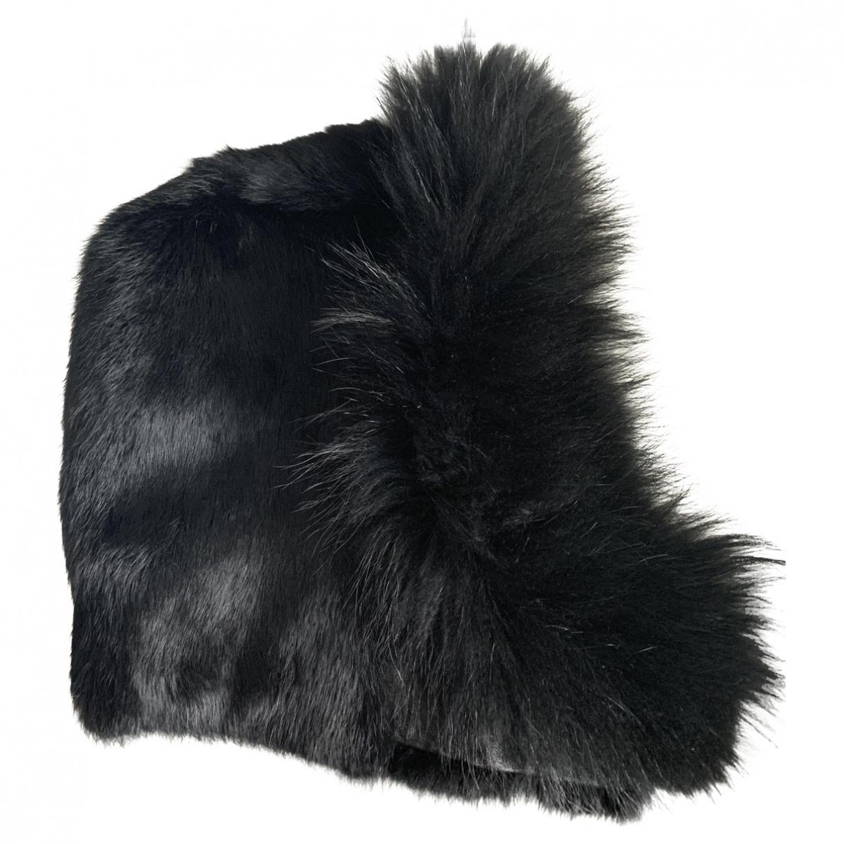 Maje \N Black Rabbit hat for Women S International