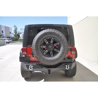 DV8 Offroad RS-2 Rear Bumper and Tire Carrier (Black) - RBSTTB-02