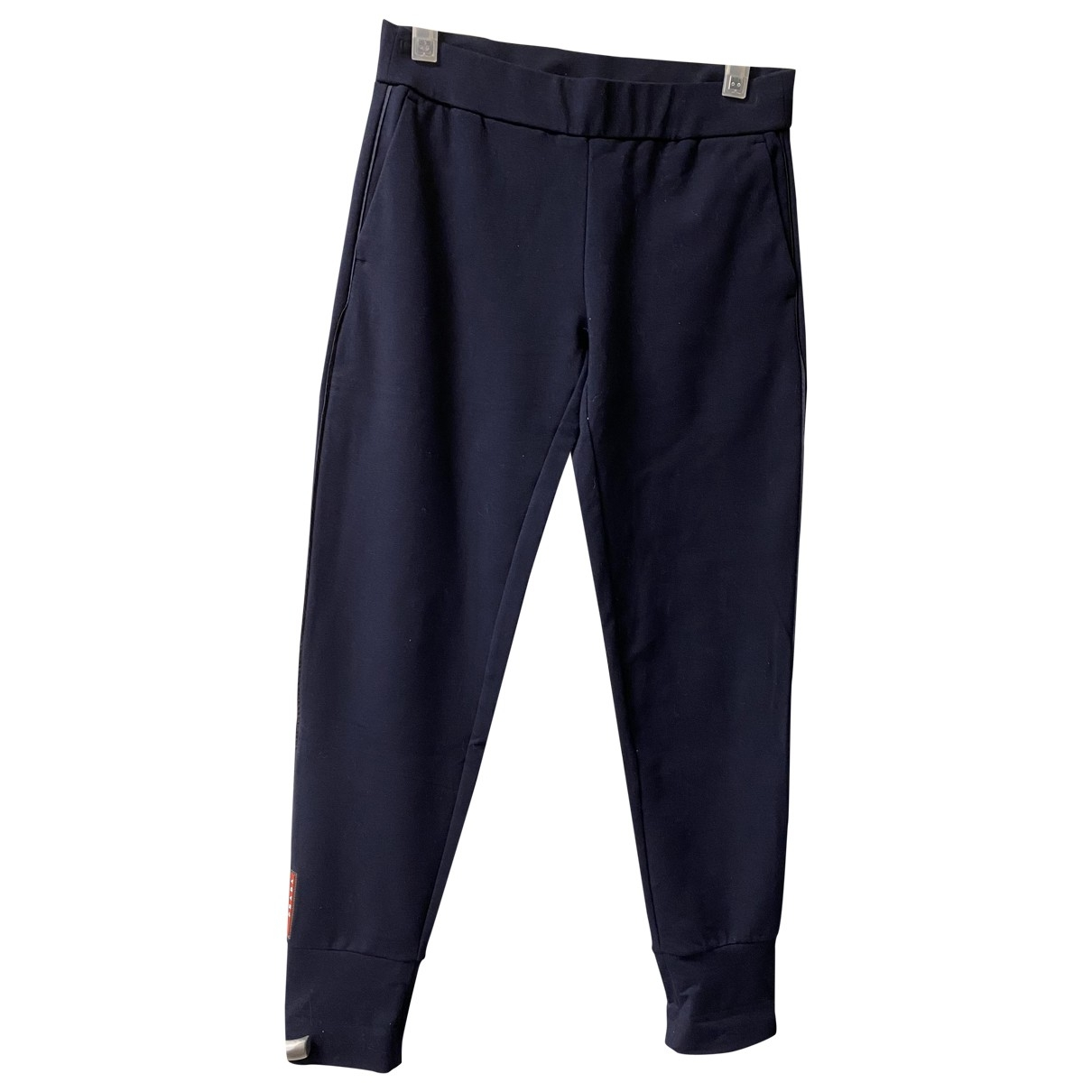 Prada \N Blue Cotton Trousers for Women M International