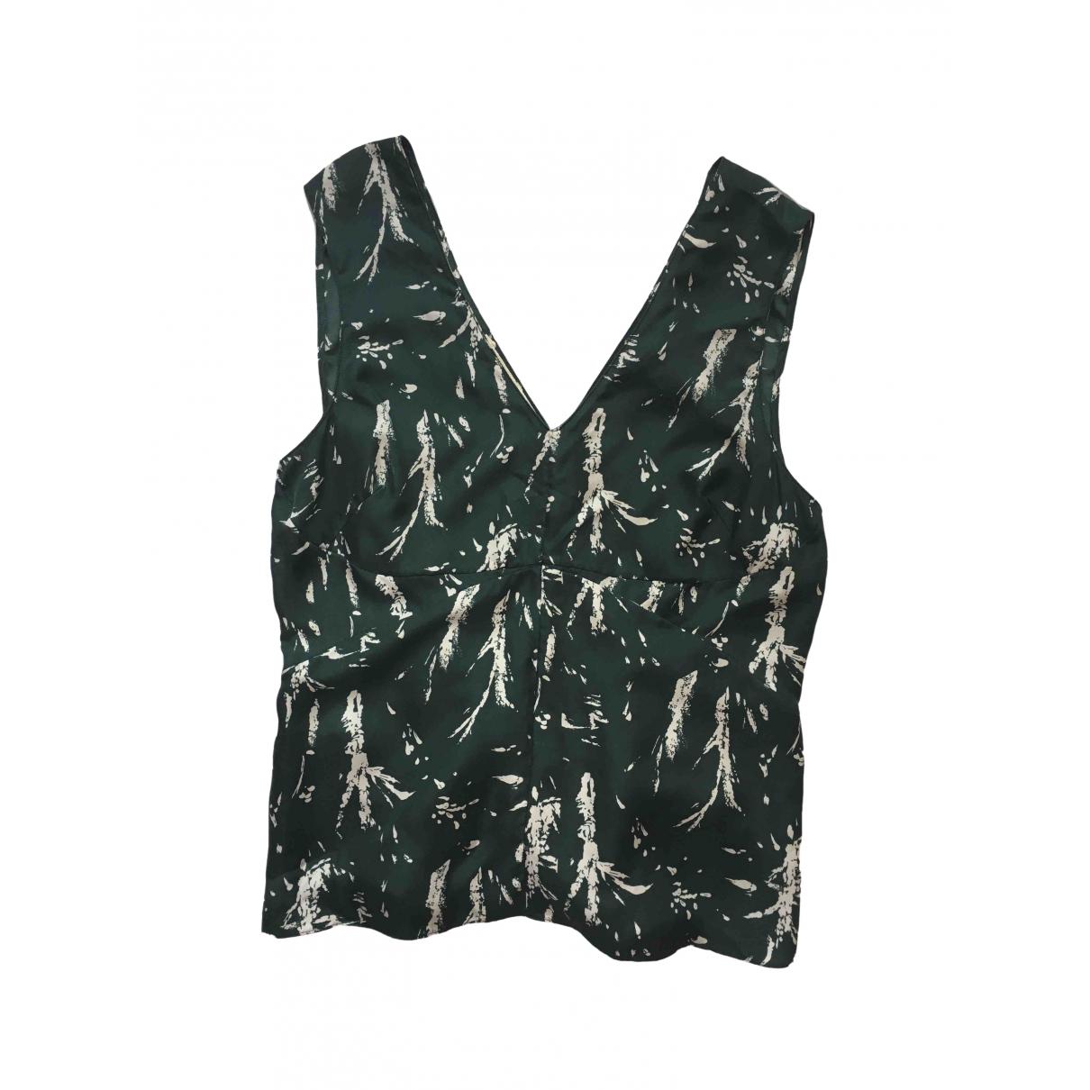 Marni - Top   pour femme en soie - vert