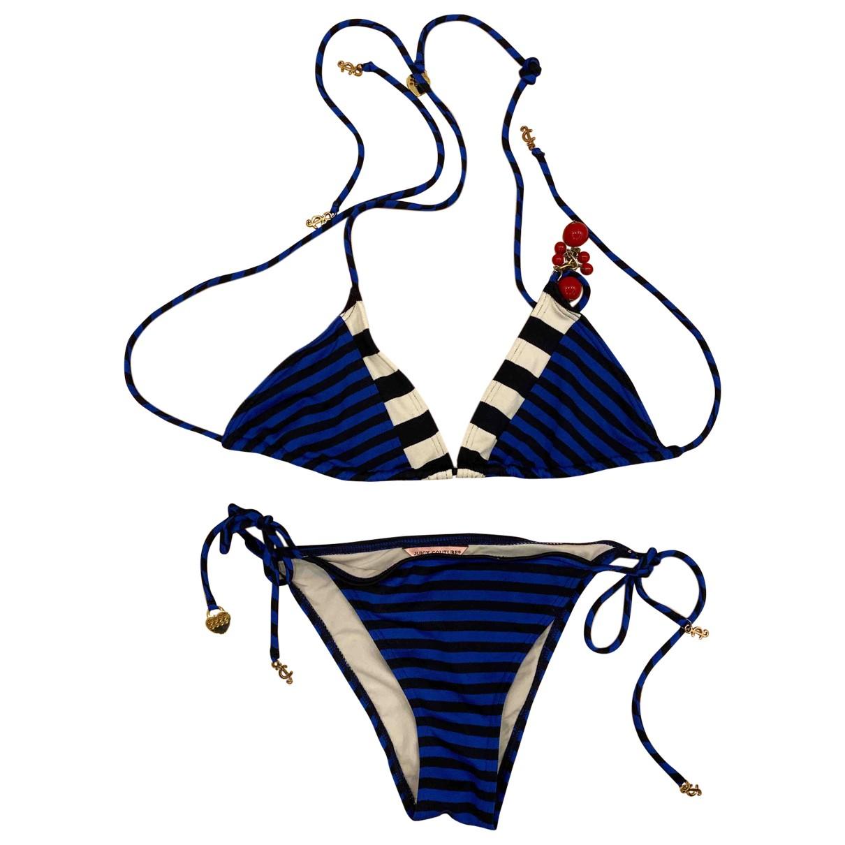 Juicy Couture - Bain   pour femme en coton - elasthane - bleu