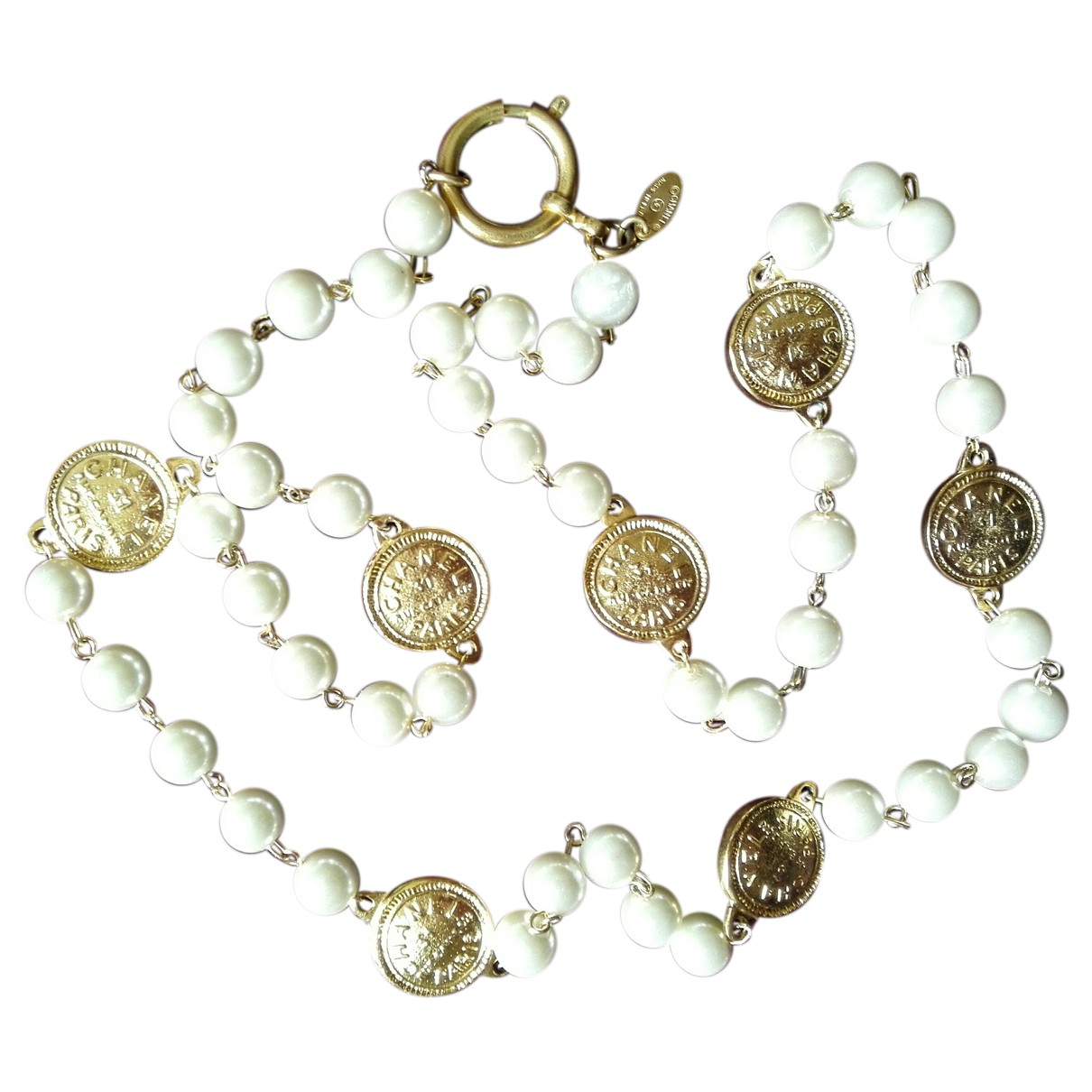 Chanel \N Halskette in  Weiss Perlen