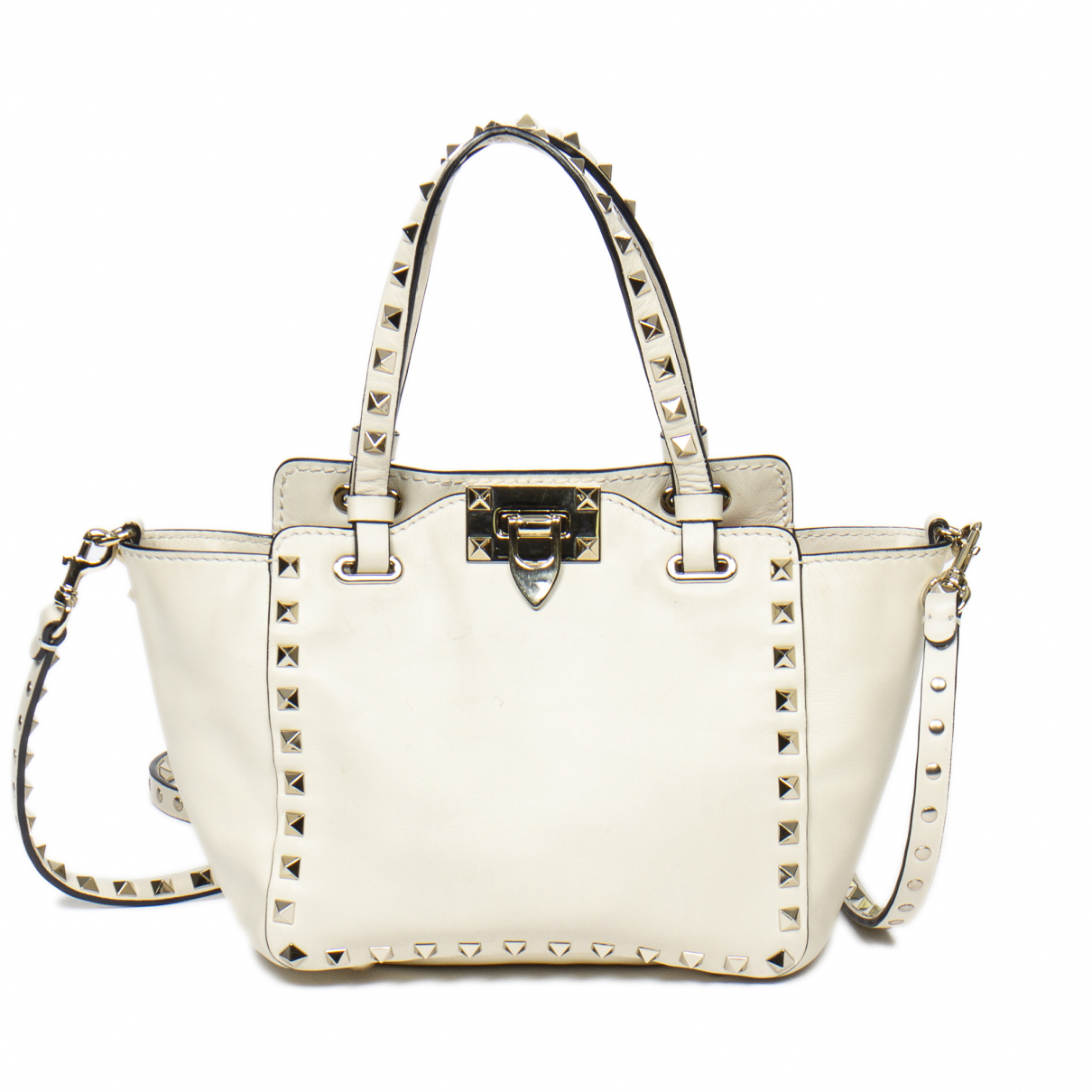 Valentino Garavani \N Beige Leather handbag for Women \N