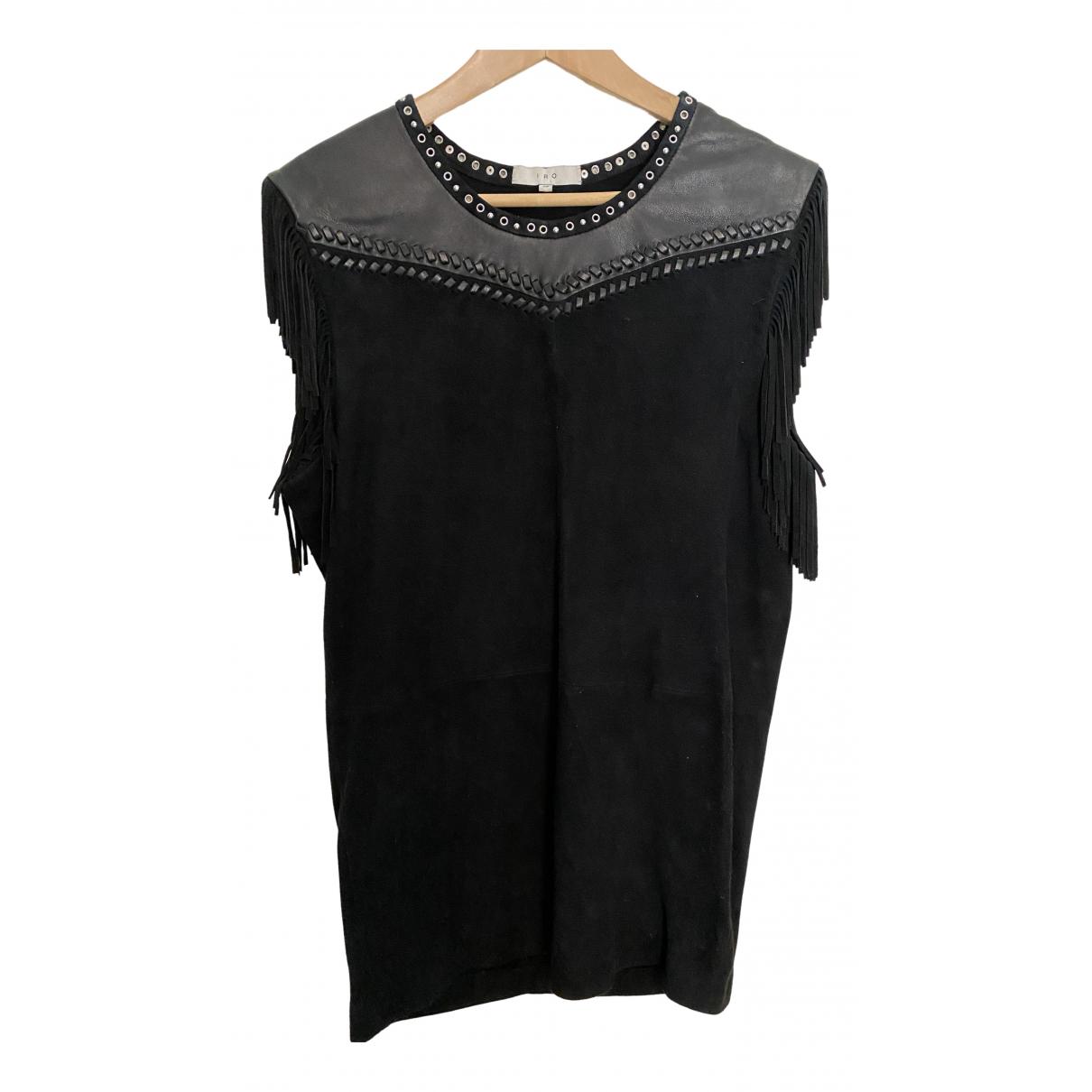 Iro \N Kleid in  Schwarz Veloursleder