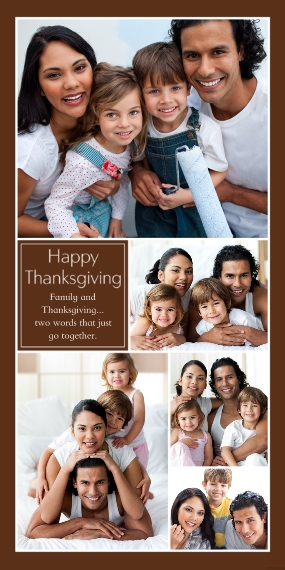 Thanksgiving Photo Cards 4x8 Flat Card Set, 85lb, Card & Stationery -Happy Thanksgiving Collage