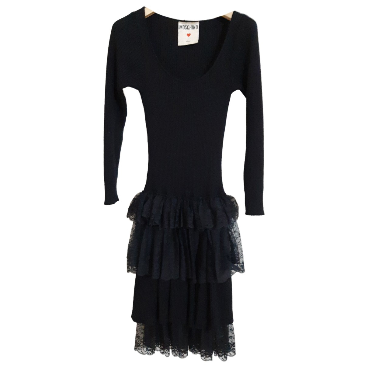 Moschino N Black Wool dress for Women 42 IT