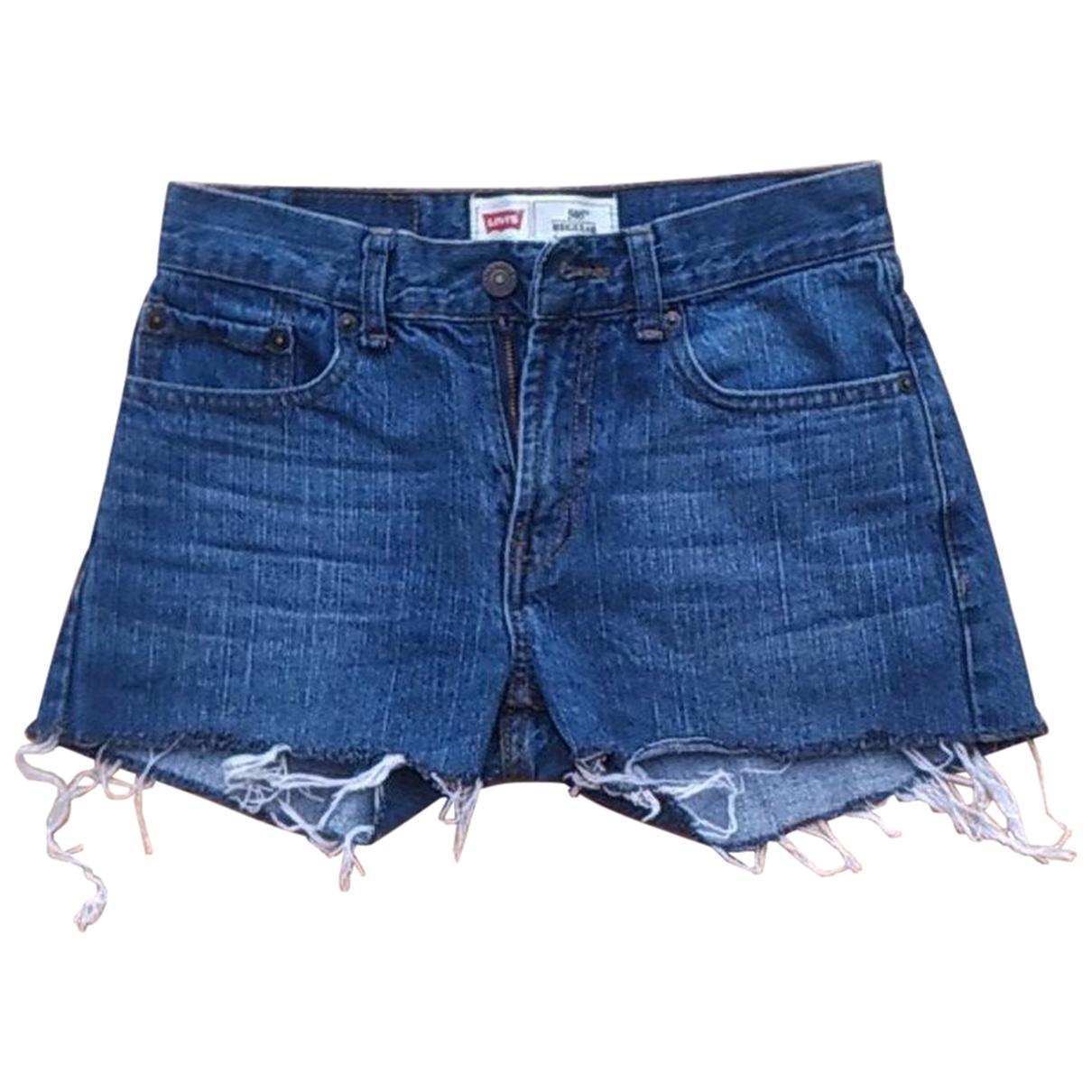 Levis - Short   pour femme en denim - bleu