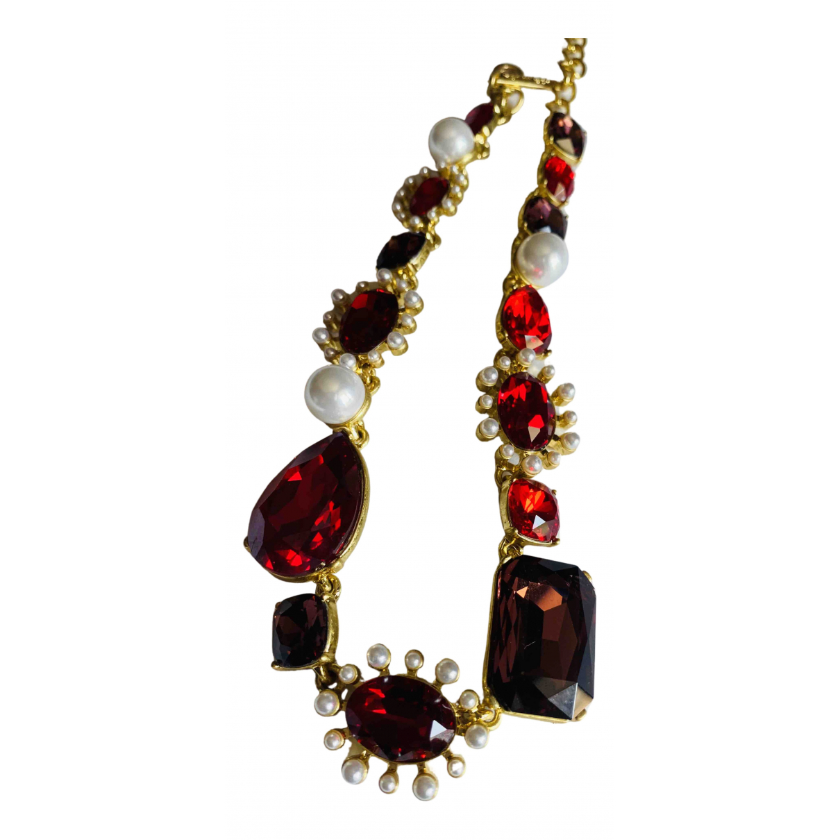 Oscar De La Renta \N Red Crystal necklace for Women \N