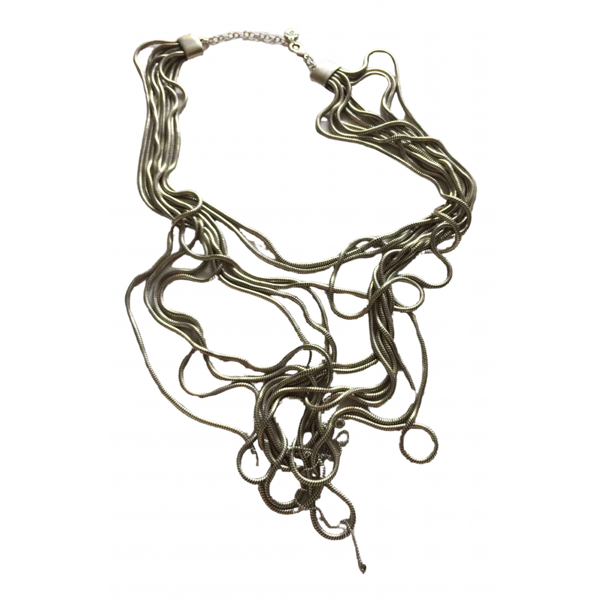 Non Signé / Unsigned Chaînes Silver Metal necklace for Women N