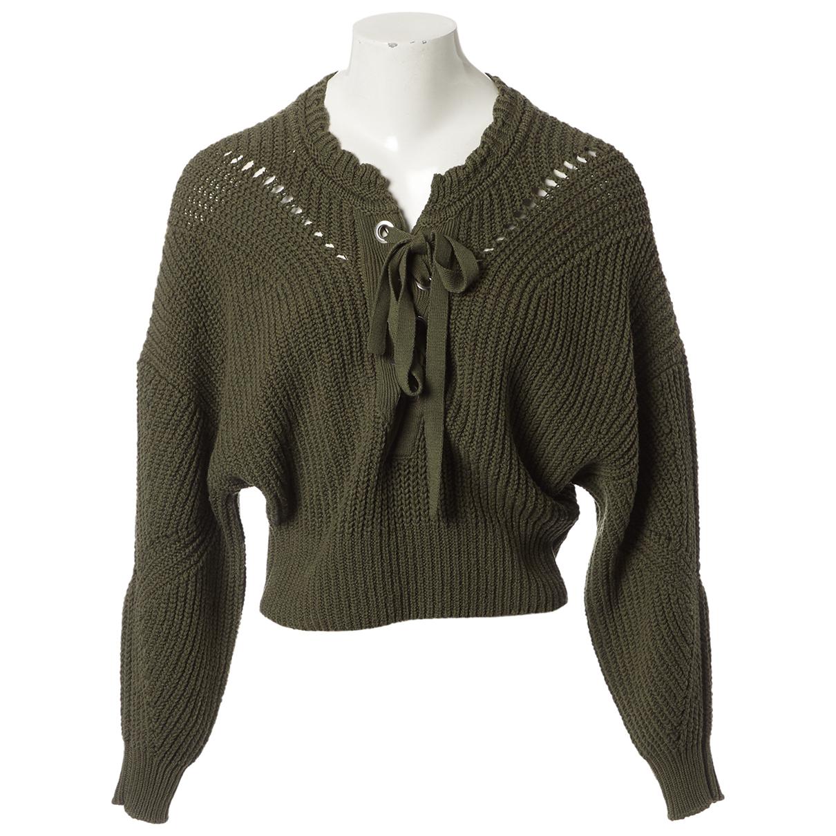 Isabel Marant - Pull   pour femme en coton - kaki