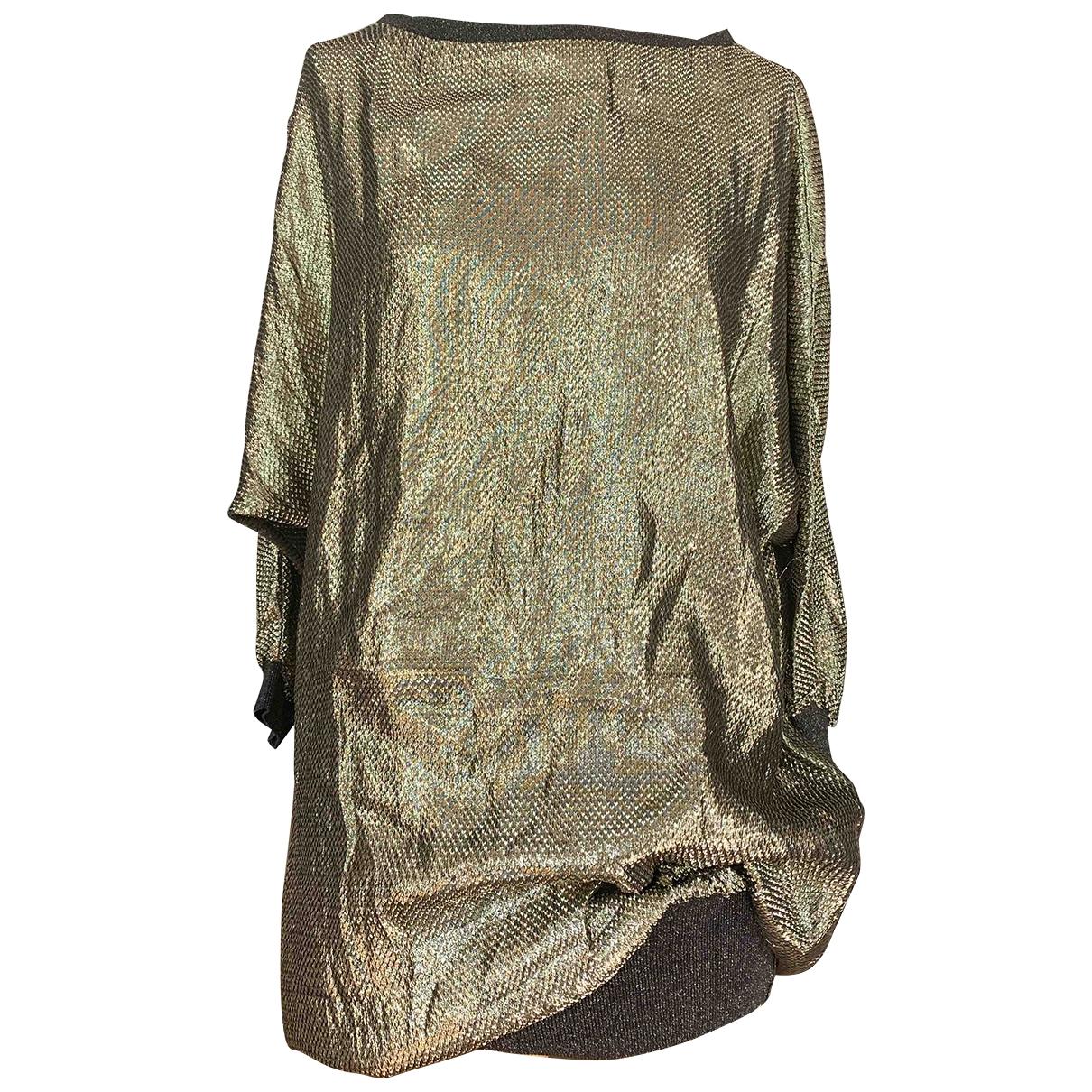 Azzaro \N Kleid in  Gold Mit Pailletten