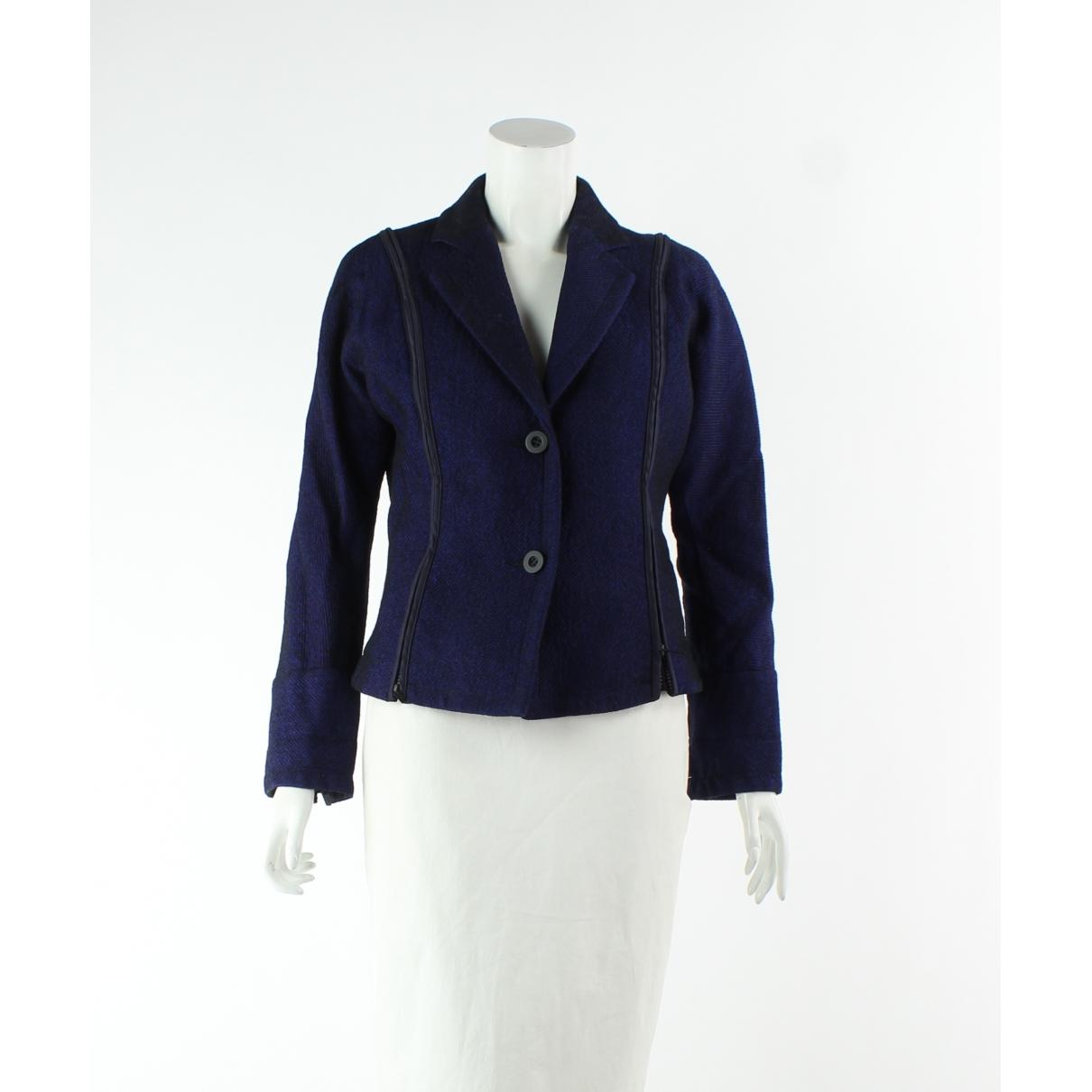 Issey Miyake \N Navy Wool jacket for Women 10 UK