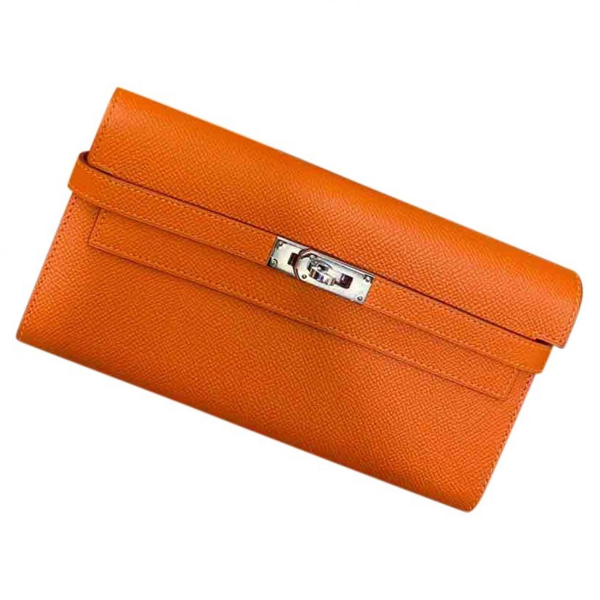 Hermès Kelly Orange Leather wallet for Women \N