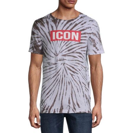 Mens Crew Neck Short Sleeve Humor Graphic T-Shirt, Small , White
